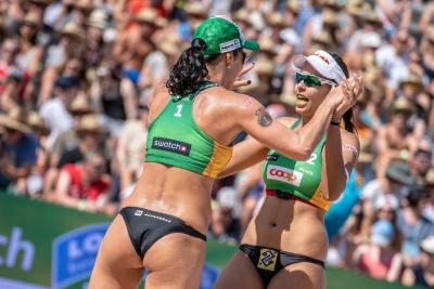 Ágatha/Duda se classificam para a semifinal na Suíça