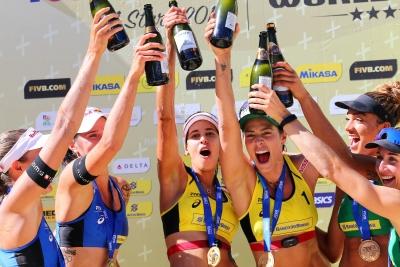 Ágatha/Duda vence suíças e repete ouro em etapa brasileira, desta vez em Itapema
