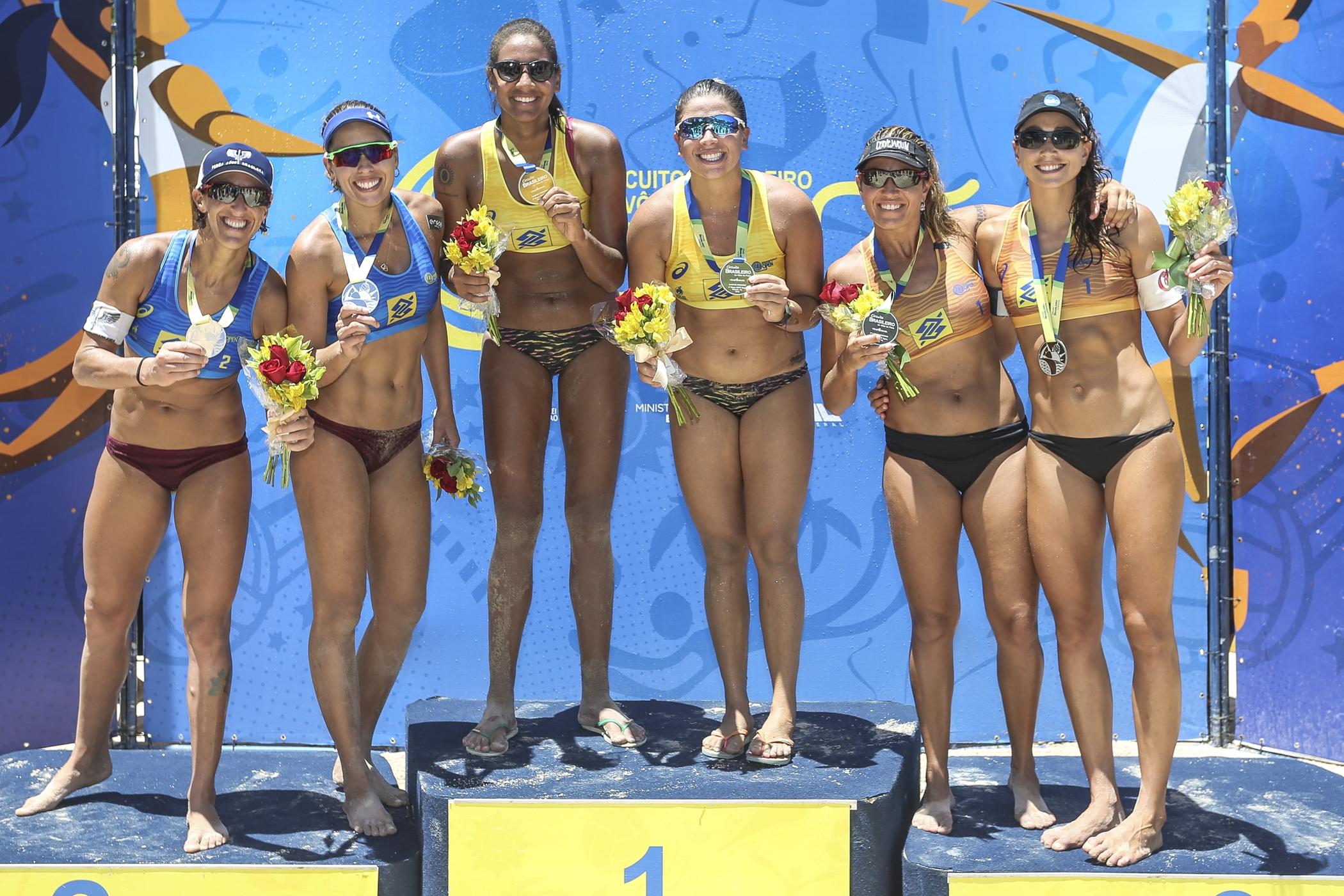 Ana Patrícia leva primeiro ouro e é campeã com Rebecca em Maceió (AL)