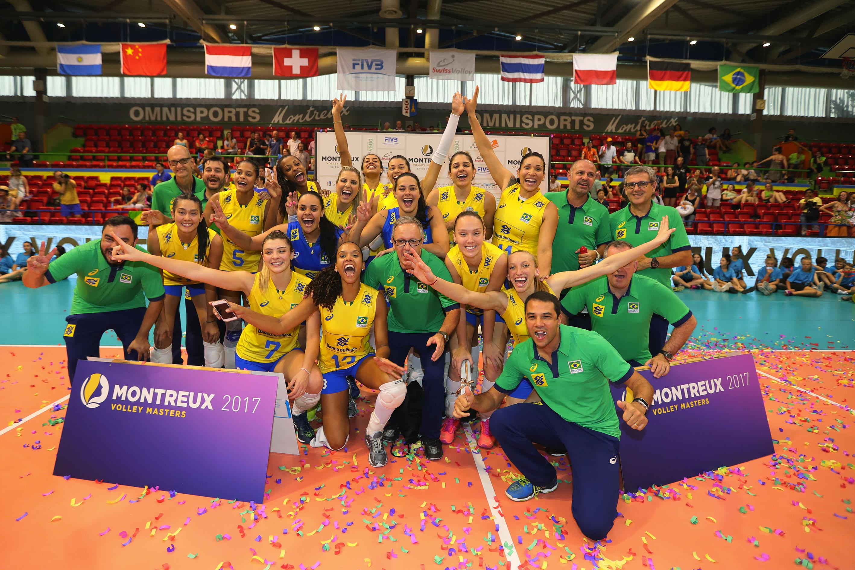Brasil conhece adversários do Montreux Volley Masters