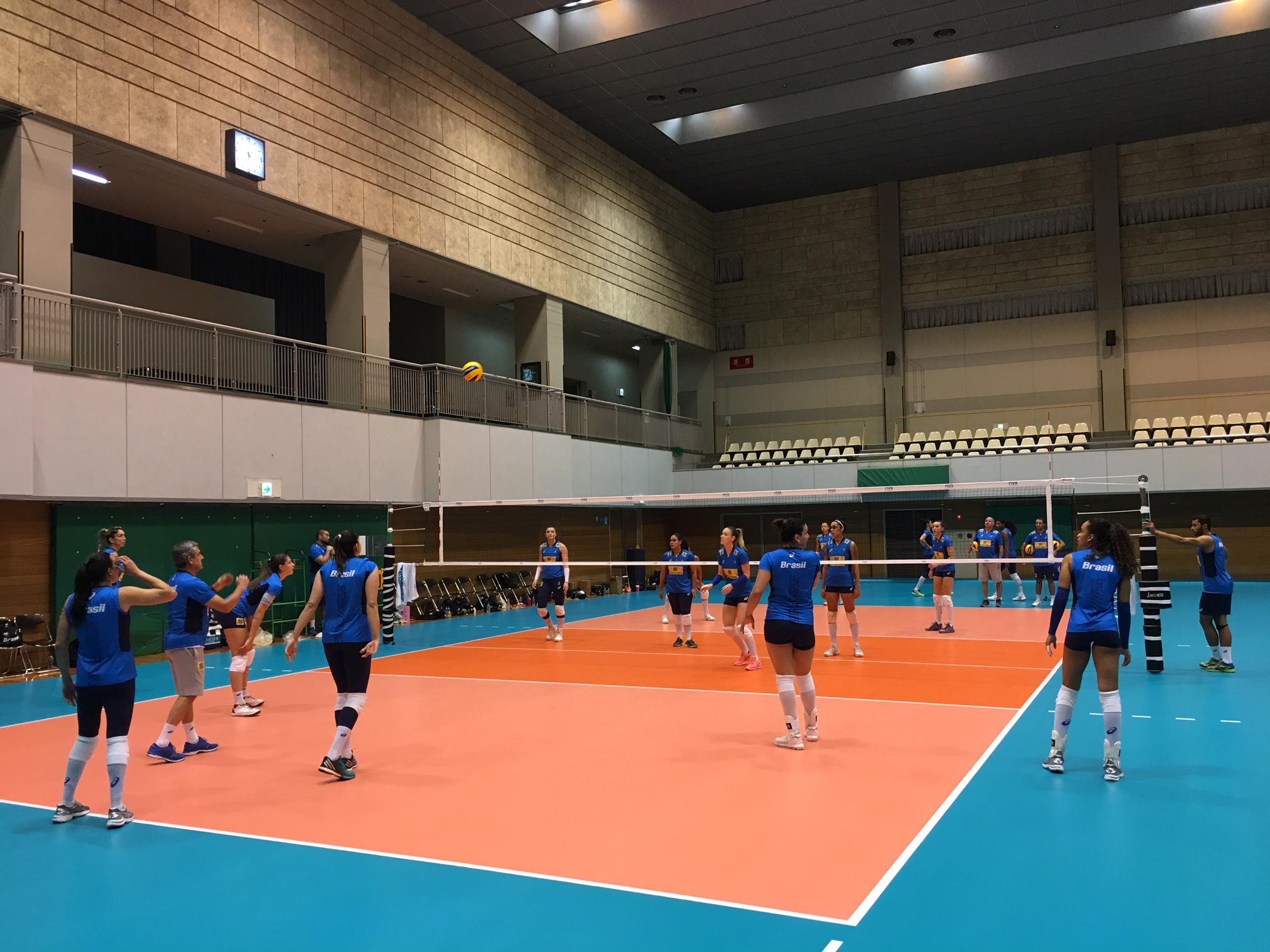 Brasil faz o primeiro treino em Nagoya