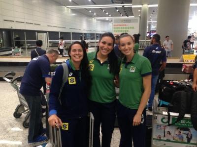 Brasil inicia treinos na China