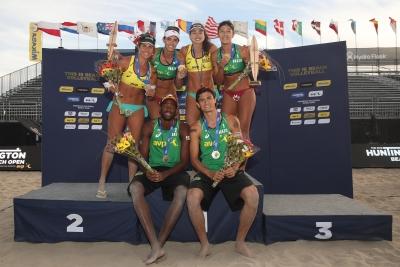 Brasil leva um ouro e duas pratas em Huntington Beach