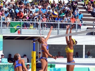 Brasil se despede do torneio de vôlei de praia em Buenos Aires
