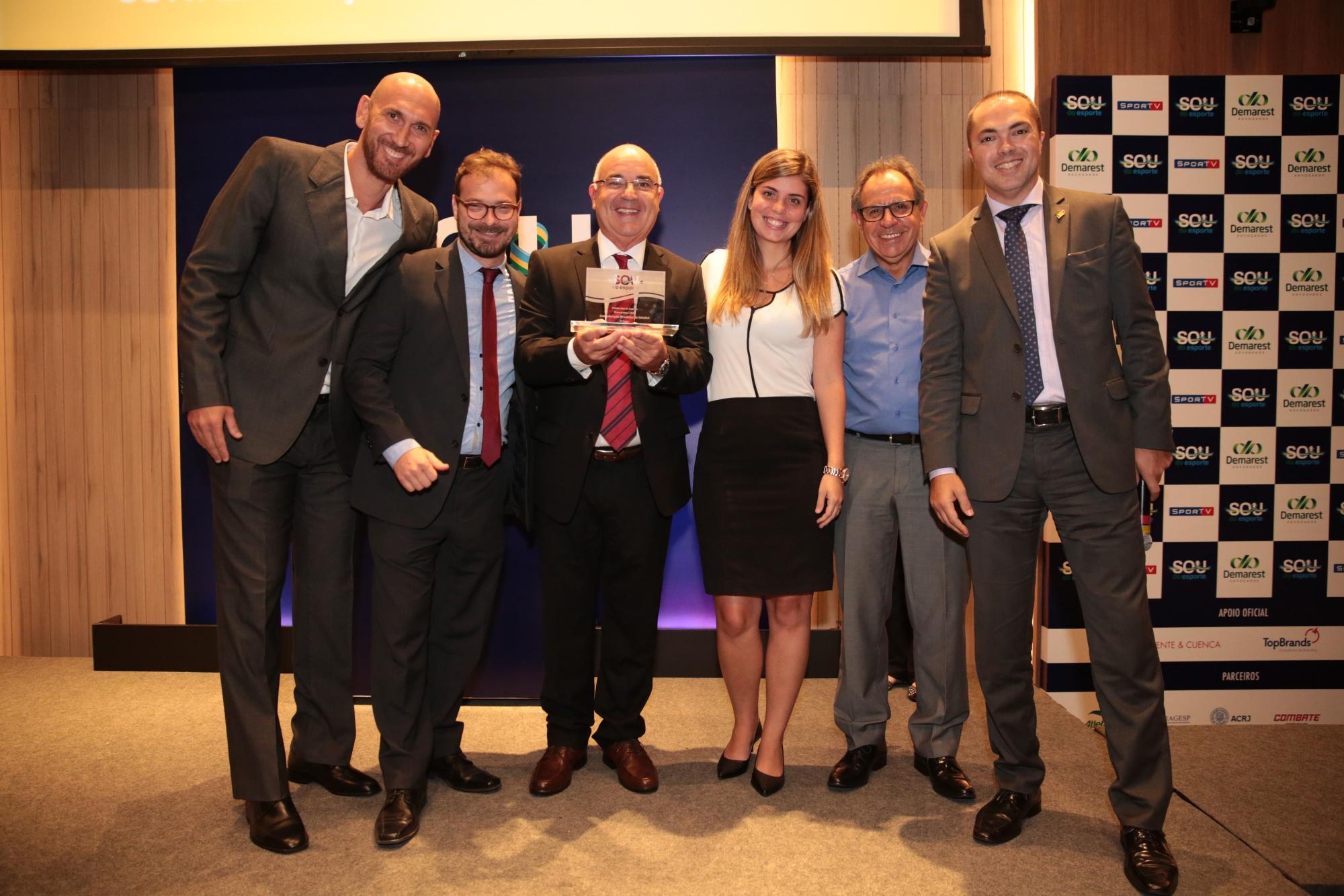 CBV é finalista do prêmio Sou do Esporte pelo quarto ano seguido