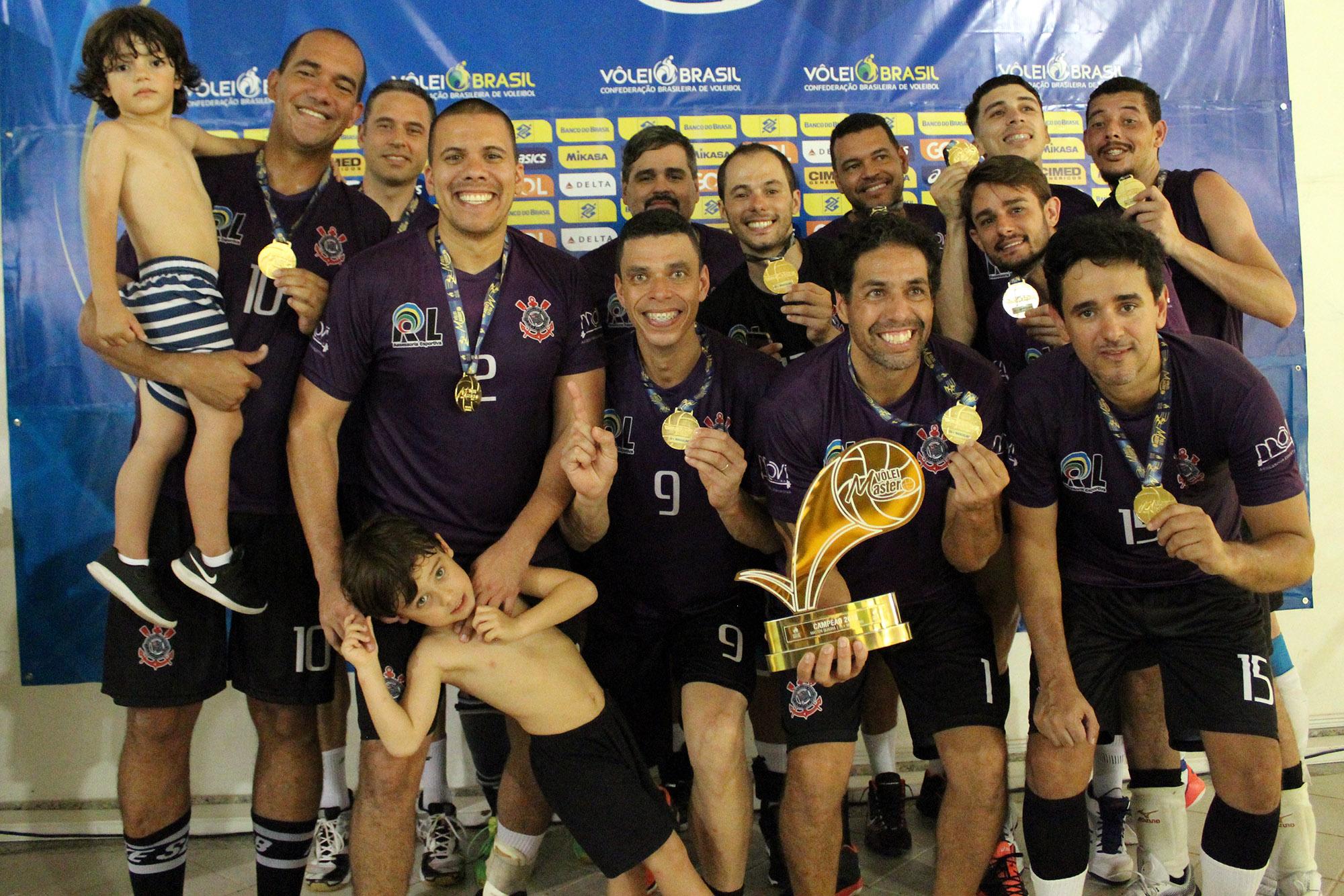Corinthians fica com o título na categoria mais disputada do Master 2018