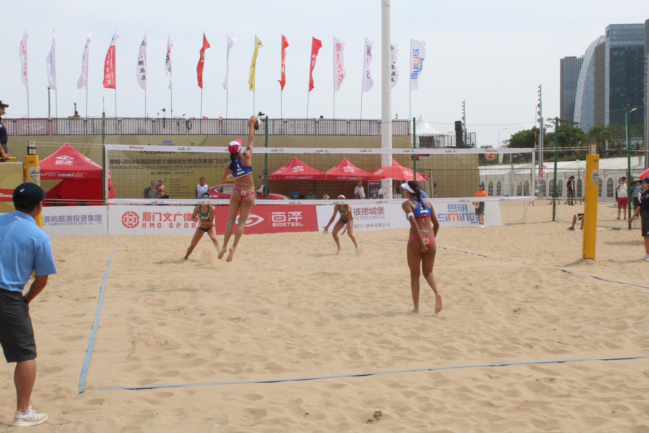 Duplas brasileiras começam a etapa quatro estrelas de Xiamen com seis vitórias