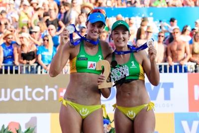 Fernanda Berti e Bárbara Seixas ficam com a prata no Major de Viena