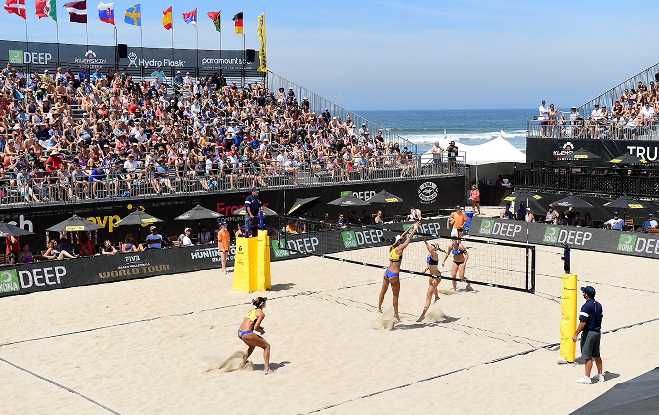 Fernanda/Bárbara e Maria Elisa/Carol Solberg vencem e vão à semifinal nos EUA