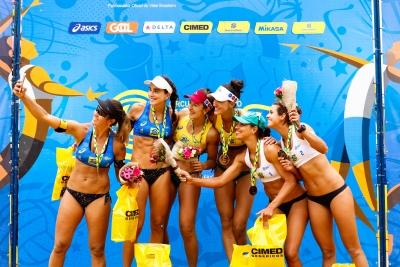 Fernanda/Bárbara leva primeiro ouro do time no tour nacional em Vila Velha
