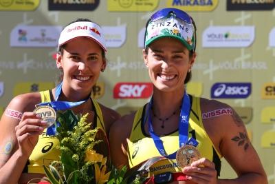 FIVB confirma título geral do Circuito Mundial 2018 para Ágatha/Duda