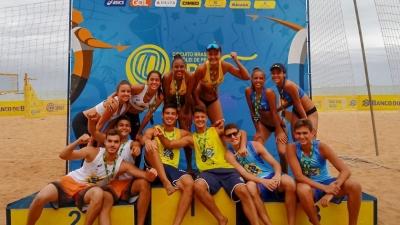 Gabriel/João (RJ) e Blenda/Thamela (ES) vencem a etapa de Vila Velha