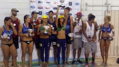 Juliana/Andressa conquista primeiro ouro da dupla na etapa de Montevidéu