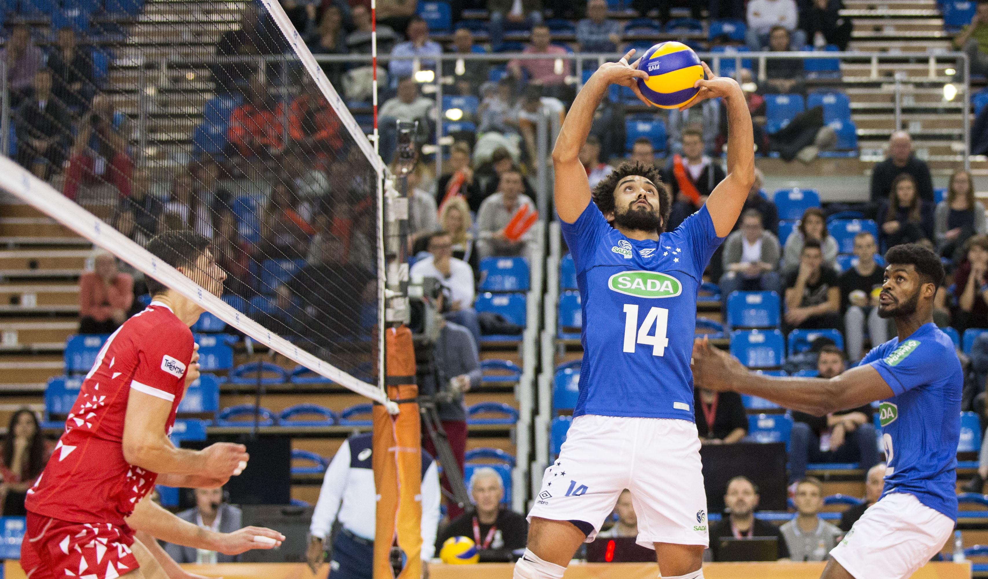 Sada Cruzeiro acaba superado pelo Trentino Volley