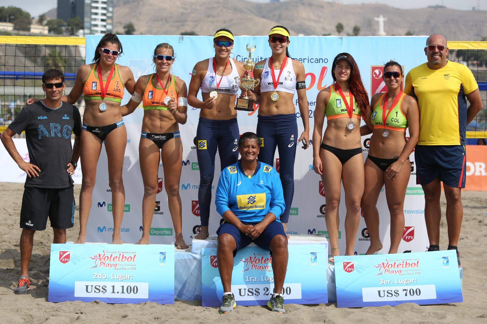 Tainá e Victoria superam argentinas e conquistam o ouro na etapa de Lima
