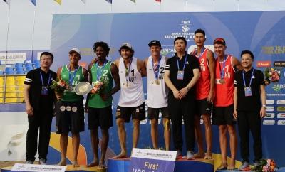 Thiago e George ficam com a medalha de prata em Haiyang, na China