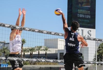 Três duplas brasileiras avançam à segunda fase no torneio masculino em Las Vegas